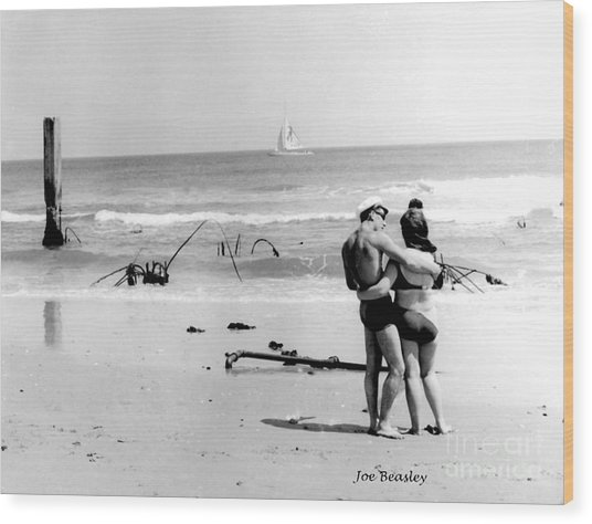 New Jersey Shore  1964 Wood Print by   Joe Beasley