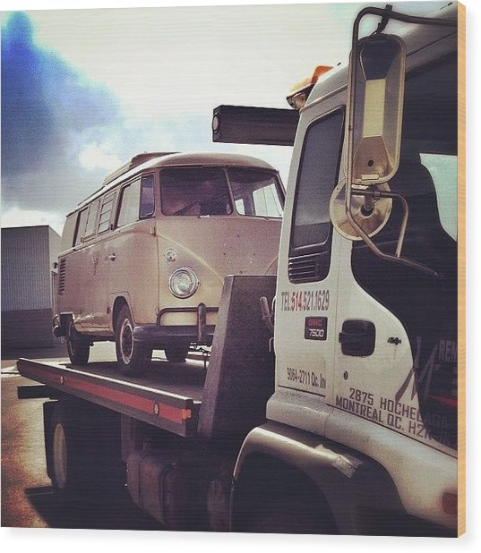 New Life And Look Soon! #vw #bus #67 Wood Print