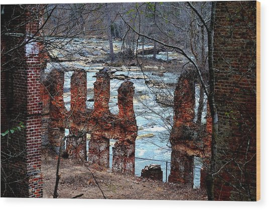 New Manchester Manufacturing Company Ruins Wood Print