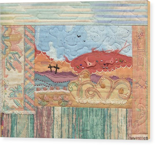 New Mexican Lanscape Wood Print by MtnWoman Silver