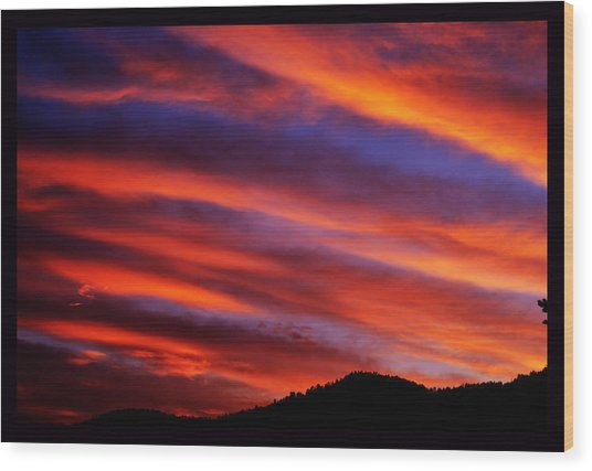 New Mexican Sunrise Wood Print