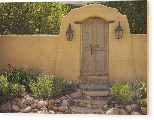 New Mexico Facade # 1 Wood Print
