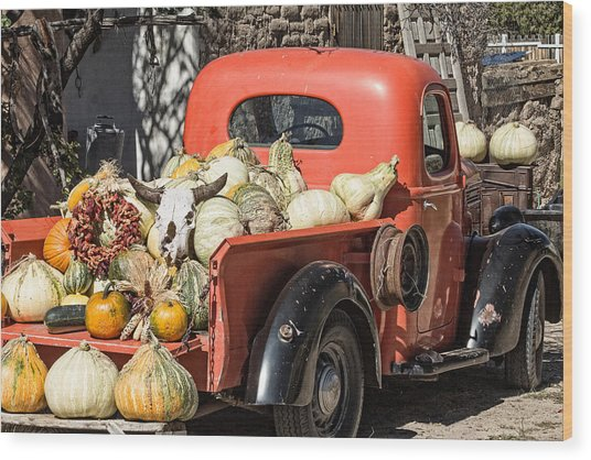 New Mexico Fall Harvest Truck Wood Print