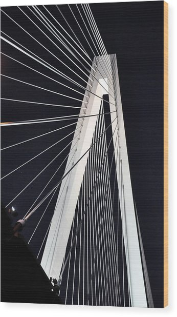 Wood Print featuring the photograph New Mississippi River Bridge by Matthew Chapman