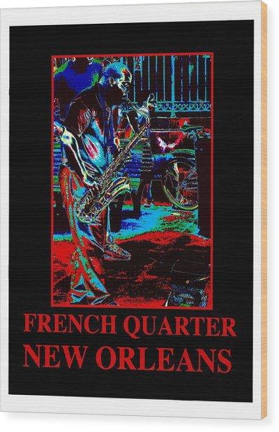 New Oleans-01 Wood Print