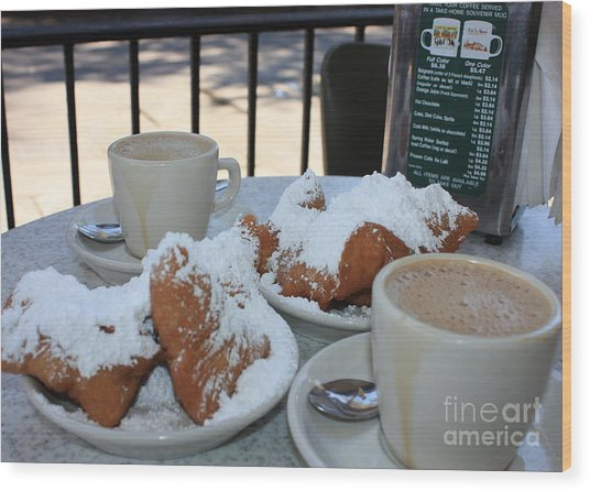 New Orleans Breakfast Wood Print