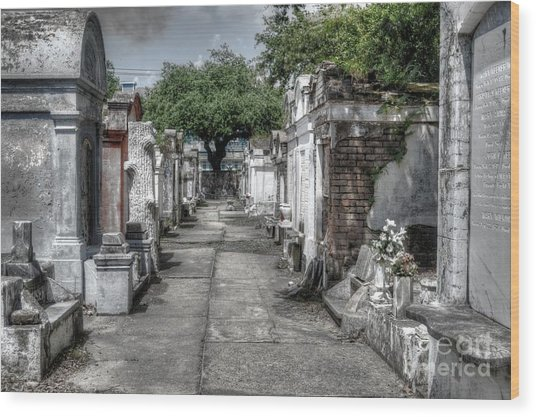New Orleans Cemetery Wood Print