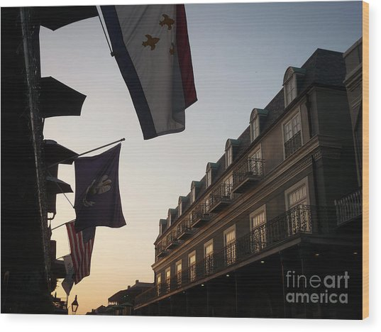 Evening In New Orleans Wood Print