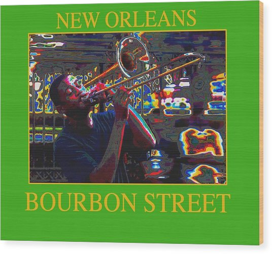 New Orleans Jazz Wood Print