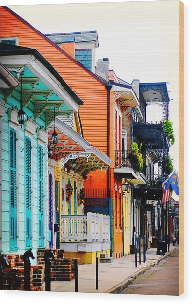 New Orleans Living Wood Print