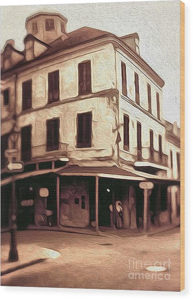 New Orleans - Old Absinthe Bar Wood Print by Gregory Dyer