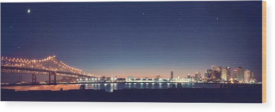 New Orleans Skyscape Wood Print