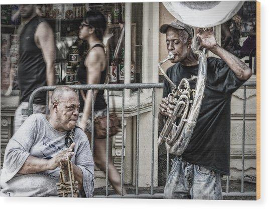 New Orleans Street Jam Wood Print