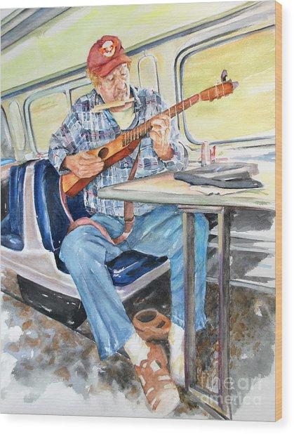 New Orleans Train To Hattiesburg Wood Print