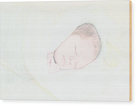 Baby Face Wood Print