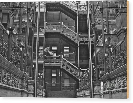 New Photographic Art Print For Sale Bradbury Building Downtown La Wood Print