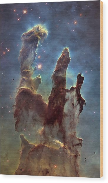 New Pillars Of Creation Hd Tall Wood Print
