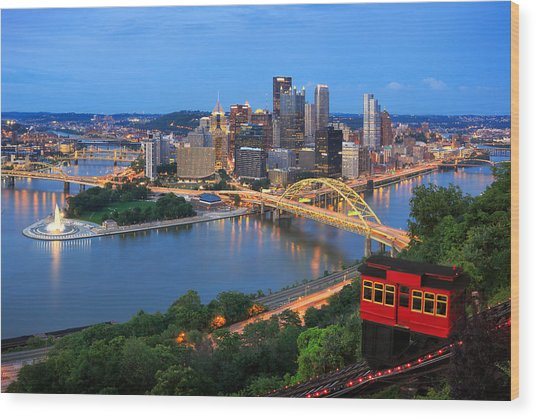 Pittsburgh Summer  Wood Print