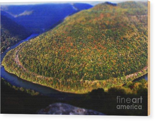 New River Gorge Wood Print