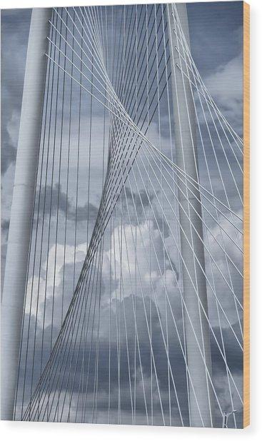 New Skyline Bridge Wood Print