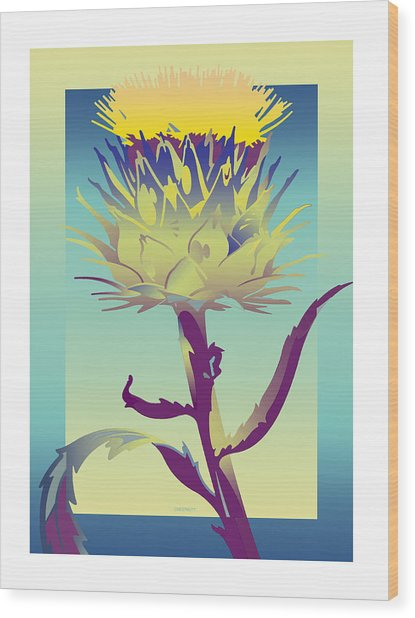 New Thistle Wood Print