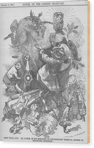 New Years Eve 1884 Wood Print