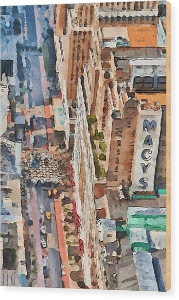 New York 5 Wood Print by Yury Malkov