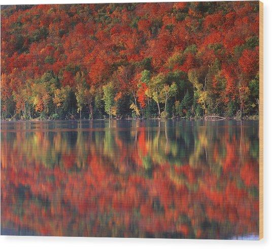 New York, Adirondack Mountains Wood Print