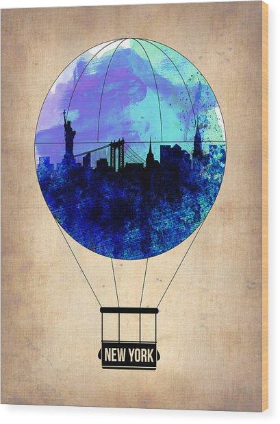 New York Air Balloon 2 Wood Print