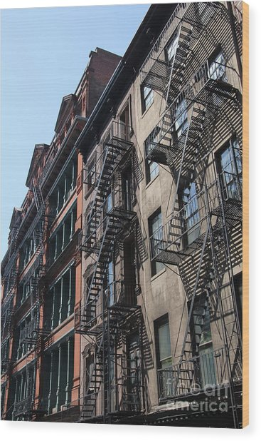 New York Apartments  Wood Print