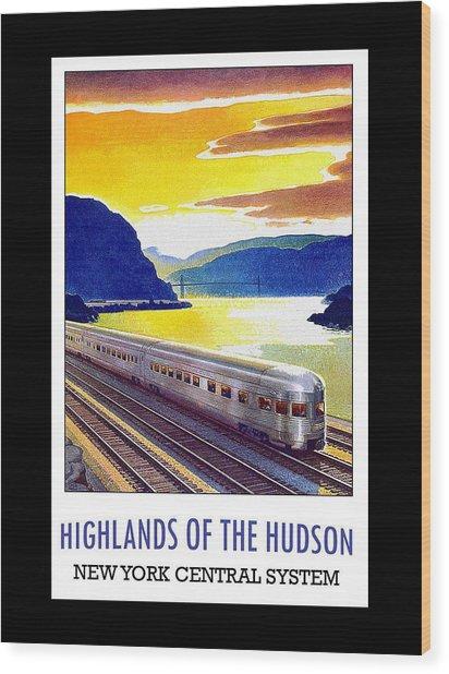 New York Central Vintage Poster Wood Print
