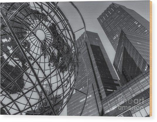 New York City Columbus Circle Landmarks II Wood Print