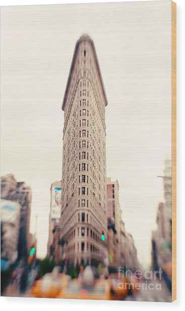 New York City Flatiron Building Wood Print