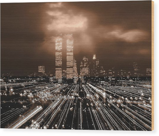 New York City Gold Wood Print