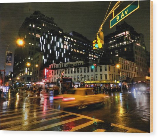 New York Taxi Street City Canvas Wall Art Picture Print Va: Greenwich Village 001 Photograph By Lance