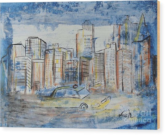 New York City Wood Print