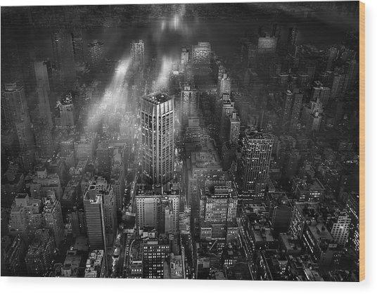 New York City Wood Print by Leif L?ndal