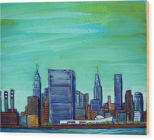New York City Midtown Wood Print by Mitchell McClenney