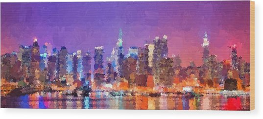 New York City - Skyline 0 Wood Print