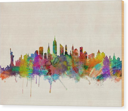 New York City Skyline Wood Print