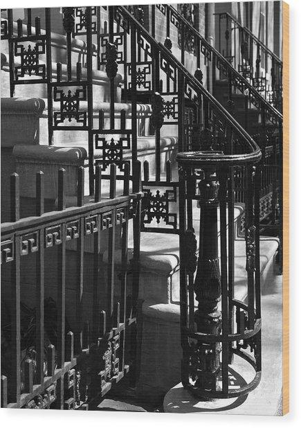 New York City Wrought Iron Wood Print