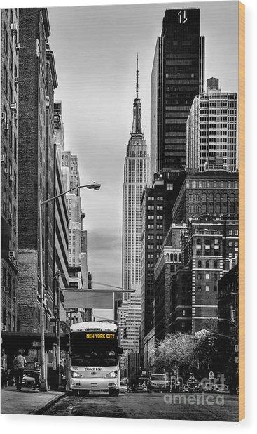 New York Express Wood Print