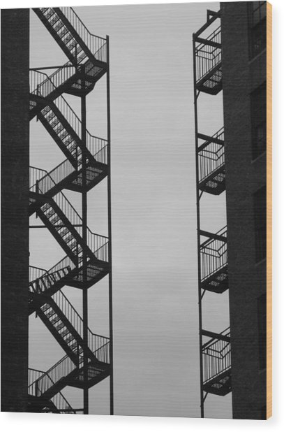 New York Filigree Wood Print