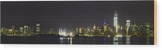New York Harbor Wood Print