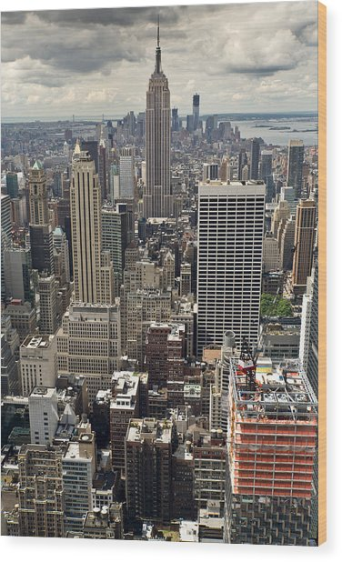 New York Midtown Skyscrapers Wood Print