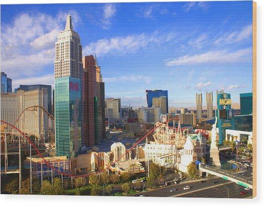 New York New York Las Vegas Nevada Wood Print