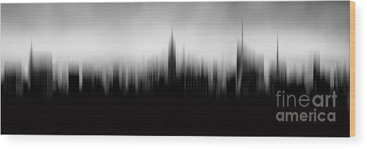 New York Skyline Abstract Wood Print