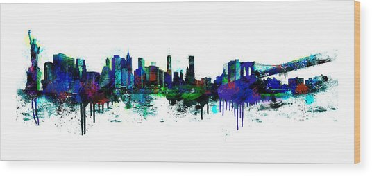 New York Spray Wood Print
