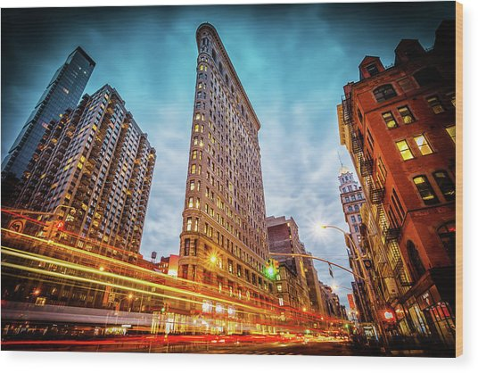 New York State Of Mind Wood Print by Marc Perrella