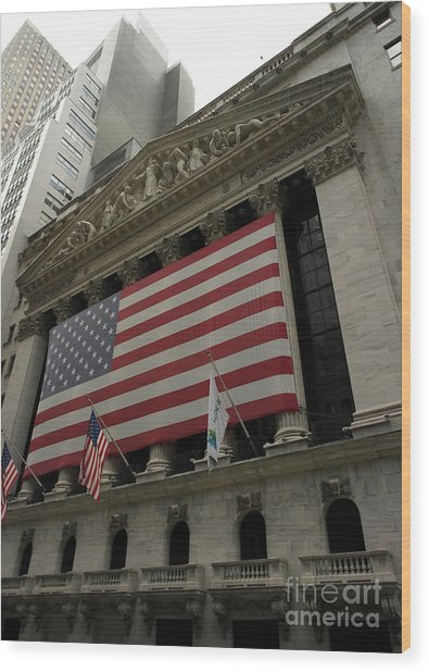 New York Stock Exchange Wood Print by David Bearden